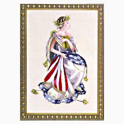 Worldwide Free Shipping Mirabilia Nora Corbett Cross Stitch Chart MD64 Queen Of Freedom