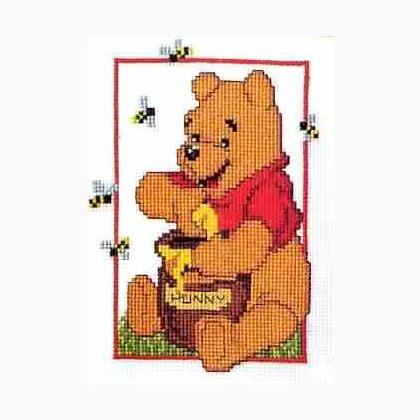 Winnie the pooh e il vasetto di miele da vervaco disney for Punto croce disney winnie the pooh