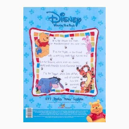 Cuscino di winnie the pooh da disney designer stitches for Punto croce disney winnie the pooh