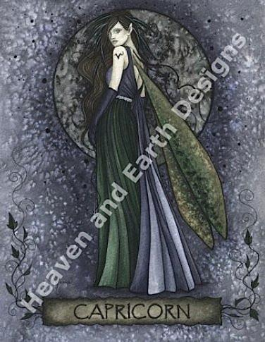 Zodiac Fairies Capricorn From Heaven And Earth Designs