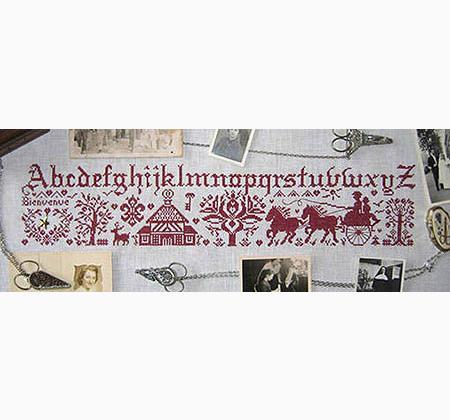Un parfum d 39 autrefois from isabelle vautier cross stitch for Autrefois decoration