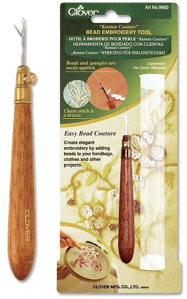 Bead embroidery tool from clover necessities