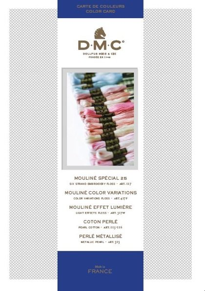 Dmc Shade Card From Dmc Color Cards Catalogs Accessories
