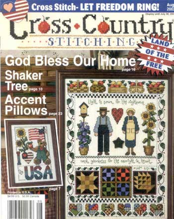Cross Country Stitching: 2002 August