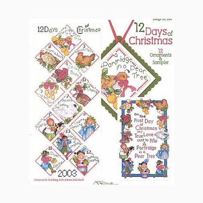 Knitting Pattern 12 Days Of Christmas : 12 Days Of Christmas From Vermillion Stitchery - NASCOSTA - Embroidery - Casa...