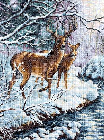 Creekside Deer From Dimensions Gold Collection Cross