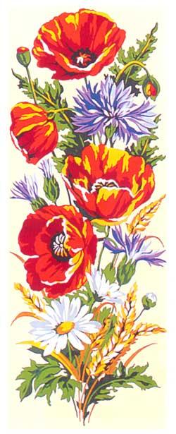 Fleurs Des Champs From Seg De Paris Tapestry And Canvases Kits