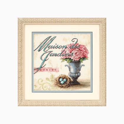 Maison des jardins from dimensions main collection cross stitch kits kits casa cenina - Maison de jardin kit mulhouse ...