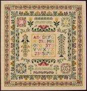 Cross Stitch Chart Botanical Stitches Texas Bluebonnet DR286