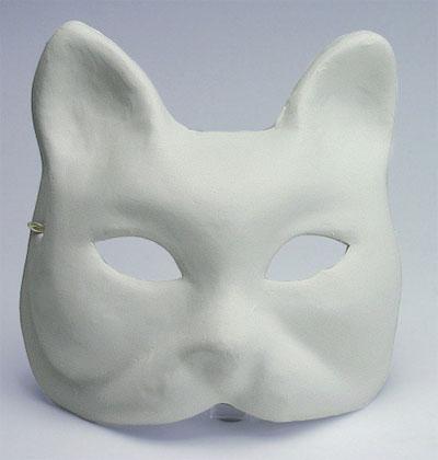 Maschera gatto da marianne hobby forme e accessori per - Pagina colorazione maschera gatto ...