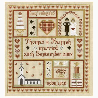 Cross Sch Charts Wedding Patchwork Sampler