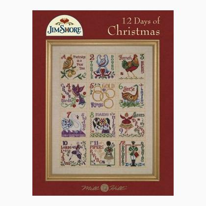 12 Days Of Christmas Cross Stitch.Jim Shore 12 Days Of Christmas