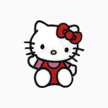 Appliqu hello kitty from stafil necessities - Casa hello kitty ...