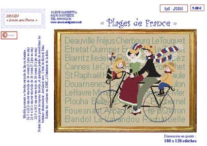 Vente Grilles: Plages de France de: A Mon Ami Pierre - Prix : $ 9.00 - Casa Cenina.