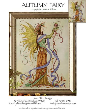 COUNTED CROSS STITCH CHART AUTUMN FAIRY # 7