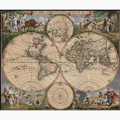 Old world map from heaven and earth designs cross stitch charts old world map gumiabroncs Gallery