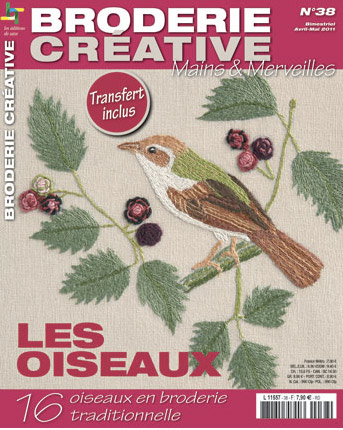 les oiseaux broderie cr ative from les dition de saxe books and magazines books and. Black Bedroom Furniture Sets. Home Design Ideas