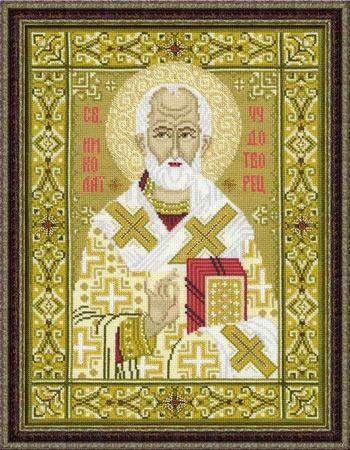Der Heilige Nikolaus From Riolis Icons Of Saints Cross Stitch