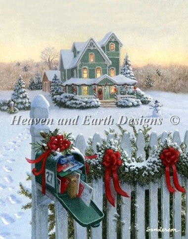 Christmas Mailbox From Heaven and Earth Designs Cross