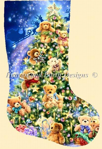 Stocking Teddy Bear Tree From Heaven