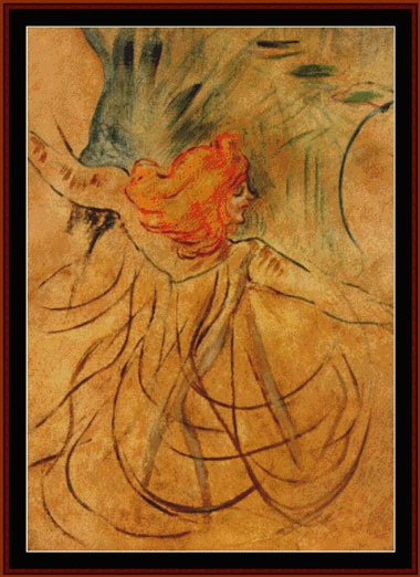 Toulouse Lautrec Loie Fuller From Cross Stitch