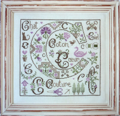 Lettre c comme coton from cross stitch charts for Jardin prive
