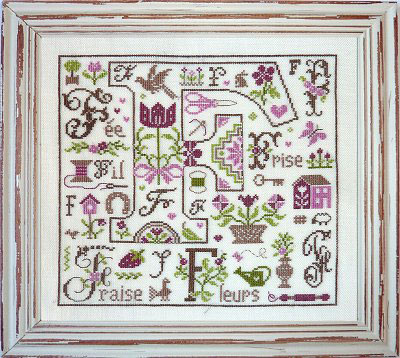 Lettre F comme Fil From - Cross Stitch Charts - Embroidery - Casa Cenina