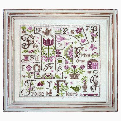 Lettre f comme fil from cross stitch charts cross for Jardin prive