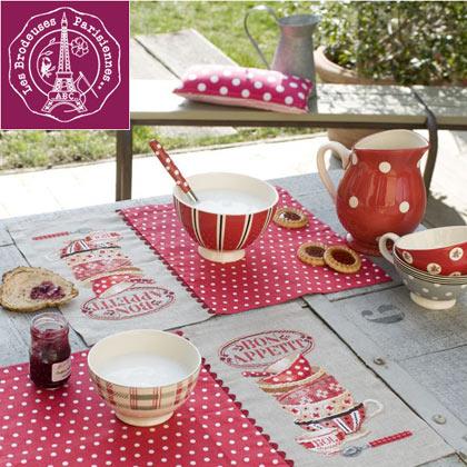 Set de table bon app tit lino da les brodeuses for Set de table paris