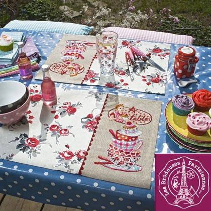 Sets de Table Claudine - Linen From Les Brodeuses Parisiennes - Les ...