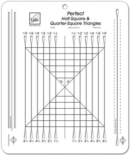 Perfect Half Square And Quarter Square Triangles Ruler