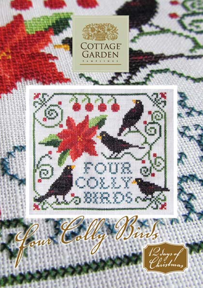 Four Colly Birds From Cottage Garden Samplings Cross