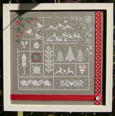 Au fil de l 39 hiver de couleur d 39 etoile grilles point de croix broderie casa cenina - Au fil des couleurs ...