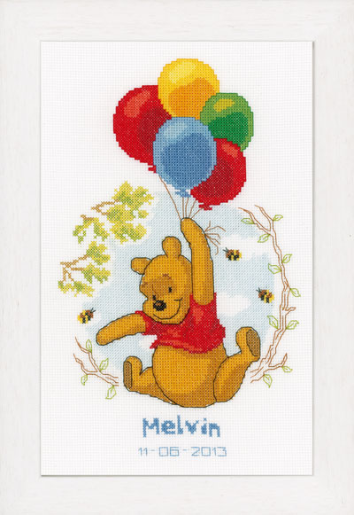Winnie the Pooh - Balloons Sampler From Vervaco