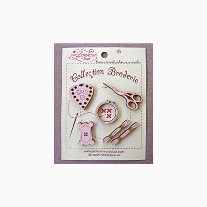 collection broderie rose from petit bonheur du jour petit bonheur du jour beads charms. Black Bedroom Furniture Sets. Home Design Ideas