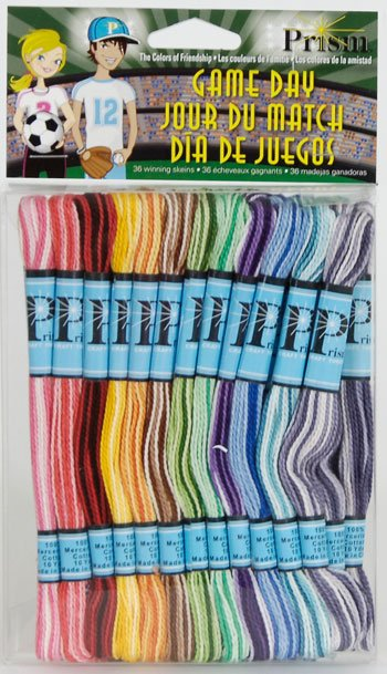 DMC Prism Game Day 36 coloured craft threads Floss Friendship Bracelet cotton