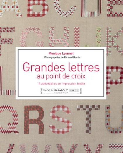 Grandes lettres au point de croix from marabout books - Grille point de croix lettre ...