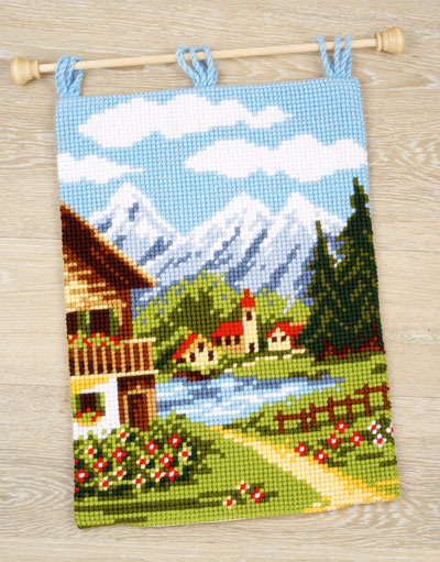 Wall Hanging Alpine Village From Vervaco Landscapes