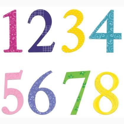 Sizzix Sizzlits Alphabet Set 5 Dies - Sassy Serif Numbers