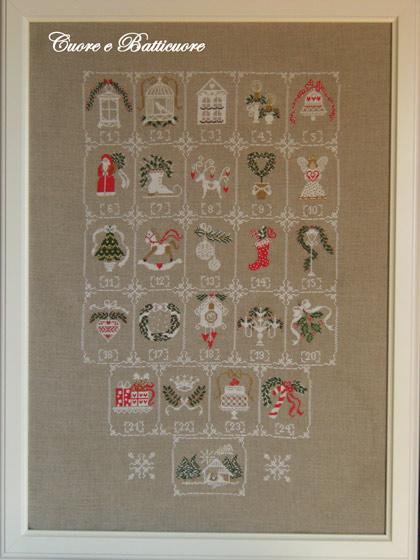 Shabby Advent Calendar From Cuore E Batticuore Cross