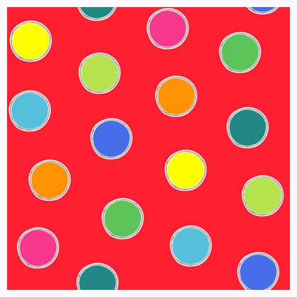Alphabet Soup Dots Red 45x110cm From Henry Glass