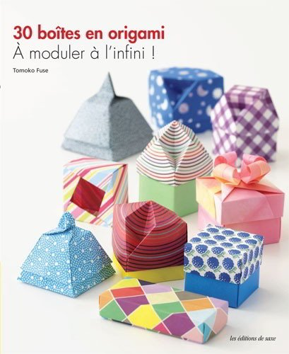 30 bo tes en origami moduler l infini de les dition for Boite a couture casa