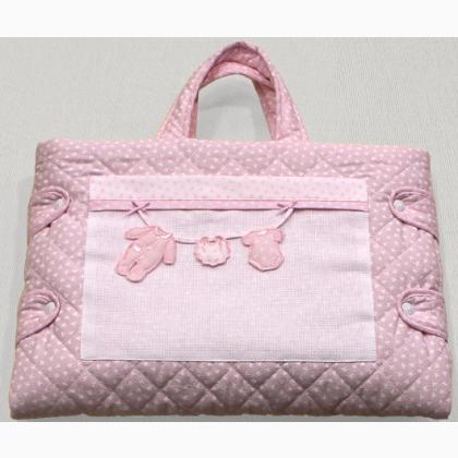 Borsa fasciatoio rosa da filet per i bimbi - Come fare un porta lettere ...