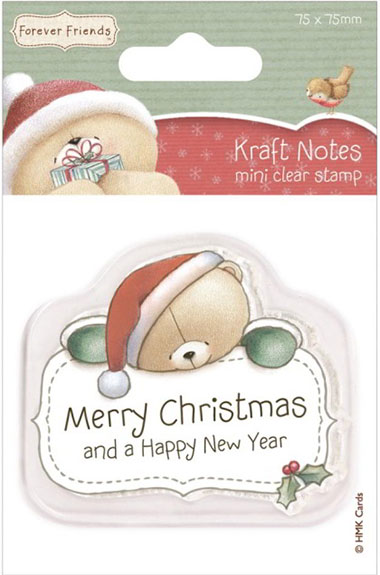 Forever Friends 75mm by 75mm Kraft Notes Stamps Mini Merry Christmas
