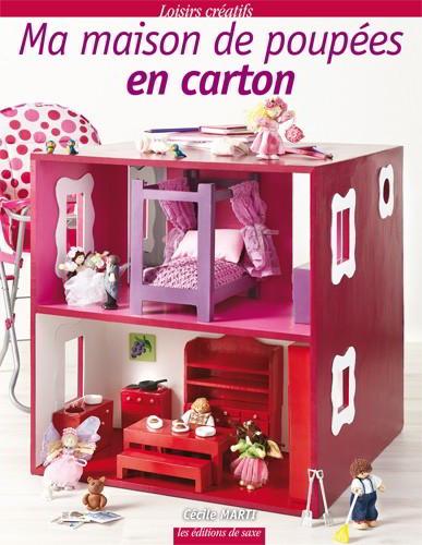 ma maison de poupes en carton from les dition de saxe. Black Bedroom Furniture Sets. Home Design Ideas