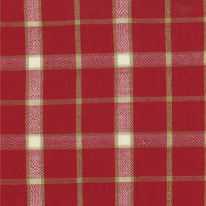 Midwinter Reds Woven Homespun Red Cream 45x110cm From