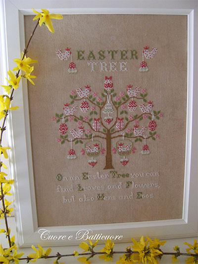 Accessori Bagno Adesivi : Easter tree da cuore e batticuore schemi punto croce