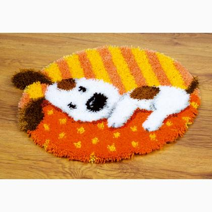 Spotted Puppy Latch Hook Rug From Vervaco Children
