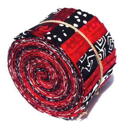 Batik Sushi Rolls Black Red Amp White From Batik By Mirah