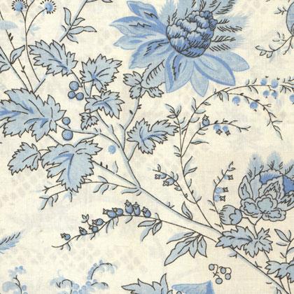 Sati ivory blue da mas d 39 ousvan arredamento tessuti for Stoffe arredamento